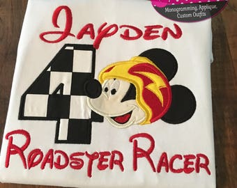 Roadster racer birthday shirt! All birthday numbers available!