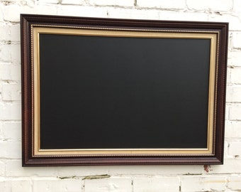 Oak style chalkboard trimmed with gold large chalkboard menu