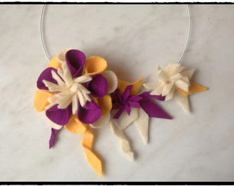 "Felt necklace ""Silya"""
