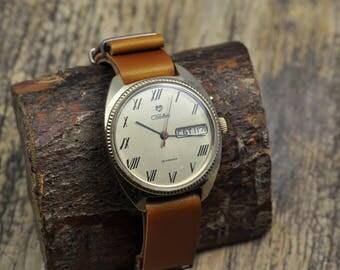 "Vintage Soviet watch - Russian Mens watch Mechanical watch - ""Slava"" USSR (Very Rare)"