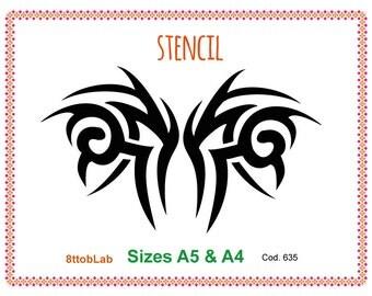 Stencil tattoo 3