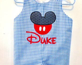 Personalized Mickey Mouse Jon Jon, Mickey Mouse Jon Jon, Mickey Mouse Romper