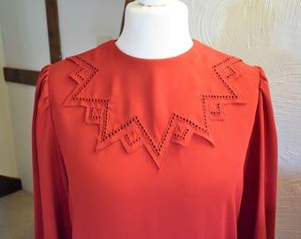 Vintage Berketex red party dress, UK size 14