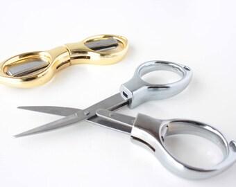 Cross Stitch Scissors Stitch Stainless Steel Travel Scissors Mini Tool Foldable Scissors Tool Small Scissors Gold or Silver