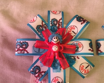 Dr. Seuss Thing One and Thing Two Bows