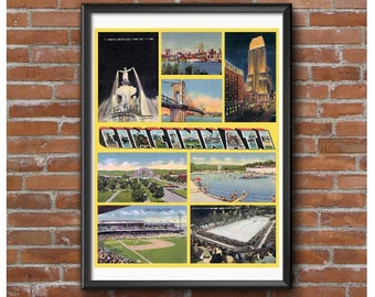 Cincinnati Historic Collage Poster