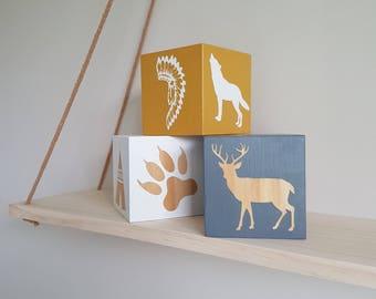Set of 3 fully customised Shelf blocks / image blocks / shelfie / decor blocks