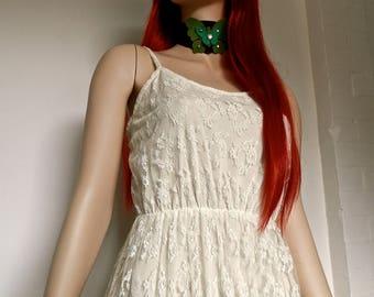 RESERVED. Pretty Original 1970's cream lace dress - size 8