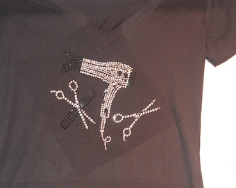 barber hair bling tshirt