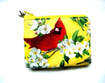 coin purse made from bird fabric