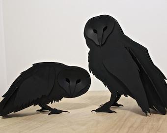 Free Shipping!, Steel Owl Sculpture, Welded Garden Sculpture, Metal Art, Garden Owl, Full Size, Barn, Snowy, Bird Figurine, Ornament, Statue