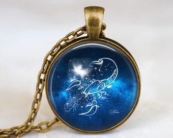 Scorpio Zodiac Sign Constellation - Handmade Pendant Necklace