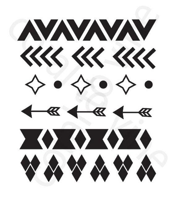 arrow SVG aztec tribal shapes SVG arrow geometric svg arrow