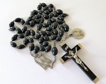 Antique French, Bloodstone, Chalcedony, Rosary, SHIPPING INCLUDED