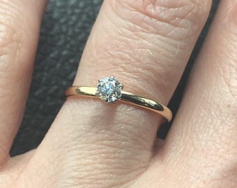 RESERVED-Art Deco Tiffany & Co Diamond Engagement Ring size 5.5