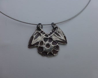 Sterling Silver Flower and Leaves