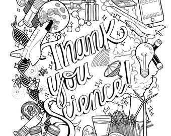 thank you science coloring page - Science Coloring Pages