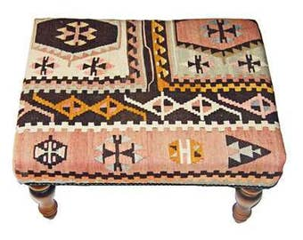 Turkish Kilim Stool (8214)
