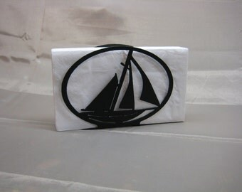 Sailboat Napkin Holder Letter Holder Nautical Decor
