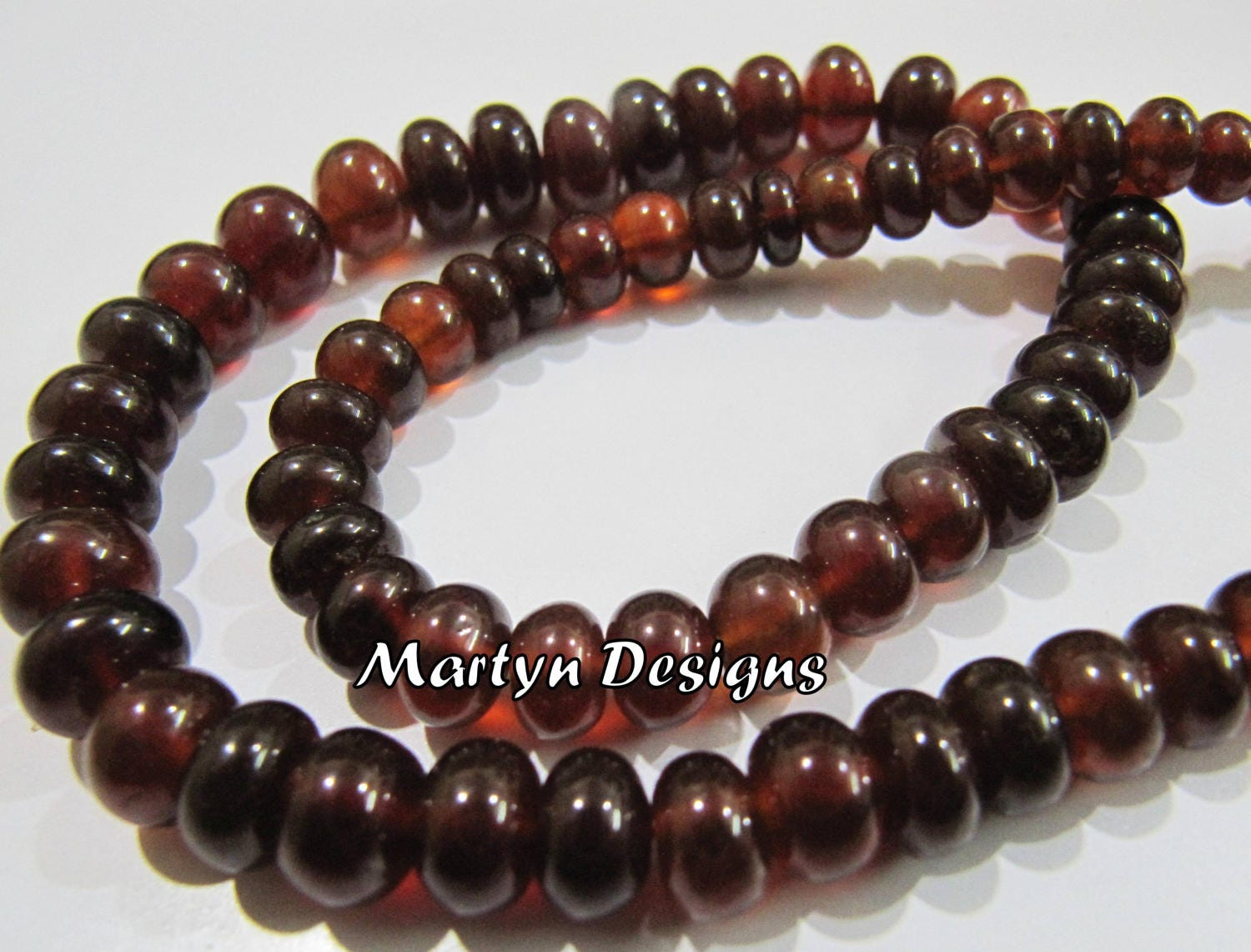 Finest Quality Hessonite Garnet 5-8mm Size Beads Smooth
