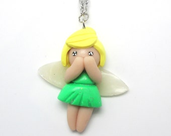 Tinkerbell Necklace in Polymer Clay