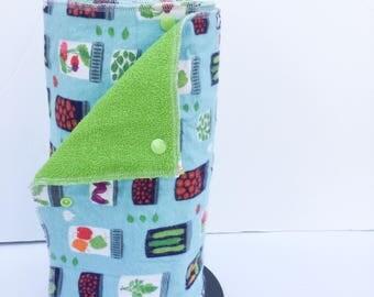 Unpaper Towels / Snapkins / Reusable Paper Towels / Paperless Towels / Kitchen Towels / Burp Cloths, set of 12 canning print