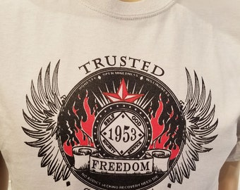 NA - TRUSTED SERVANT Ice Grey T-shirt - S-3X  - 100% cotton.   Narcotics Anonymous