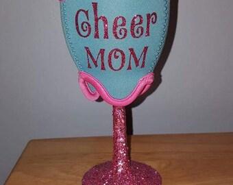 Cheer mom wine glass cooler