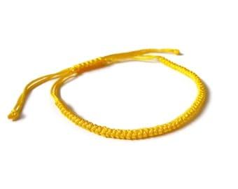 Yellow Macrame Bracelet, Men's Bracelet, Women's Bracelets. Unisex Bracelet.