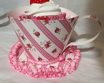 Strawberry cupcake Teacup