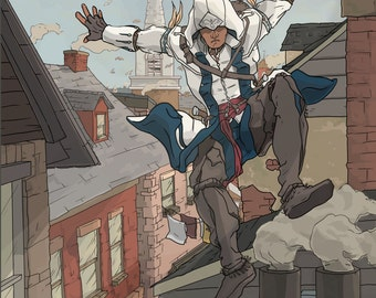 Asassins Creed III - Connor on the Roof