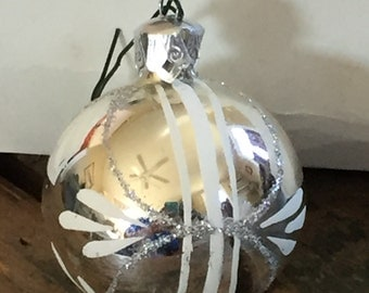Set of 9 Vintage Style Glass Ornaments by Bradford--SHIPS FREE!