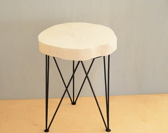 BIRCH SIDE TABLE nr 2 white