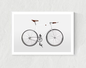 Bicycle print, Bicycle poster, Bicycle art, Bicycle display, Bicycle wall art, Scandinavian print, Home decor, Bicycle gift, Vintage print