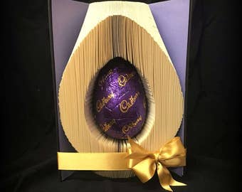 Easter Egg cut and fold Book folding Pattern