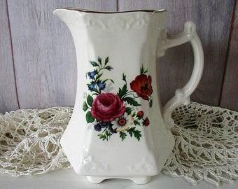 Vintage Floral Jug