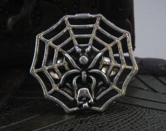 Spider Web & Skull Ring
