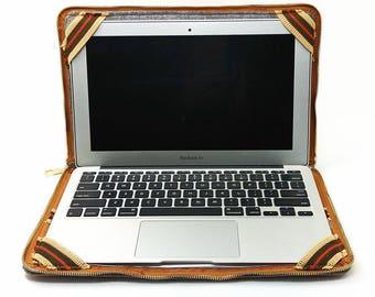 Laptop Case Stand, Customize Macbook Sleeve, Cork Laptop Briefcase Customize, Christmas gifts, Zipper Laptop Sleeve, Felt Bags, B4D24