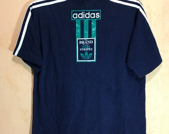 90s Vintage Adidas Trefoil Adult Large Size T-shirt