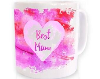 Best Mum Watercolour mug
