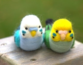 Felted Budgies-Needle Felted Budgies- Felted Animal-Budgies Gift-Plush Budgies-Mini Budgies-Budgies Doll-Budgies home decor