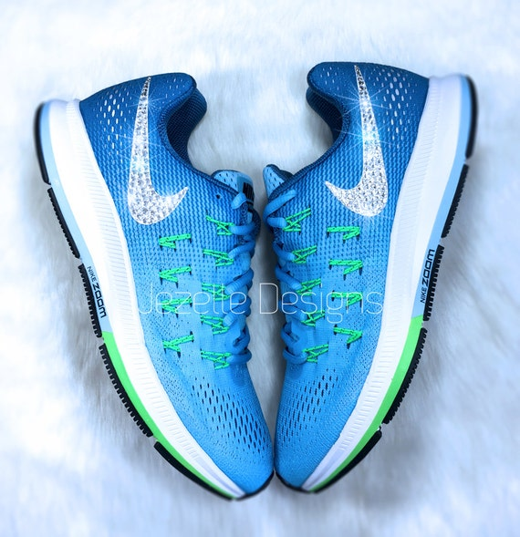 e75bc61a50475 70%OFF Custom Nike Air Zoom Pegasus 33 with Swarovski by JezelleDesigns