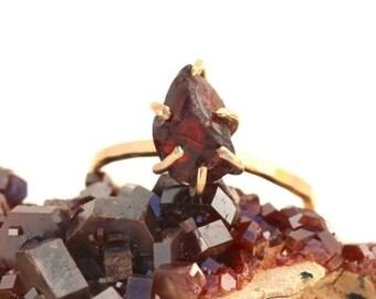 Garnet Claw Ring/January Birthstone/Garnet Stacking Ring