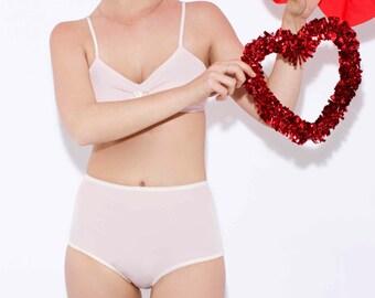 high waisted panties - granny panties - sexy underwear - womens underwear - womens panties - pink panties - retro underwear