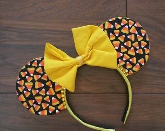 Candy Corn Halloween Minnie Mouse Ear