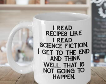 Cooking Coffee Mug - I Read Recipes - Funny Cooking Coffee Mug