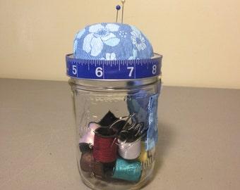 Mason Jar Pincushion, Pint Mason Jar, Sewing, Gift, Sewing Thread, Pincushion,