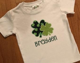 St. Patrick's Day clover shirt