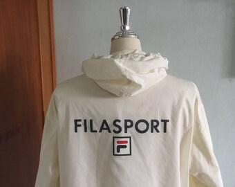 90s FILA Filasport Vintage Sportswear Pullover Nylon Jacket Streetwear