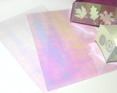 2 sheets of iridescent transparent heat transfer film to laminate and decorate textiles, gleaming in pastel colors 2x Din A4, 8 1/4'x11 1/2'
